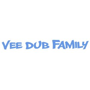 Vee Dub Family Graffiti Windscreen Sticker - Iced Blue