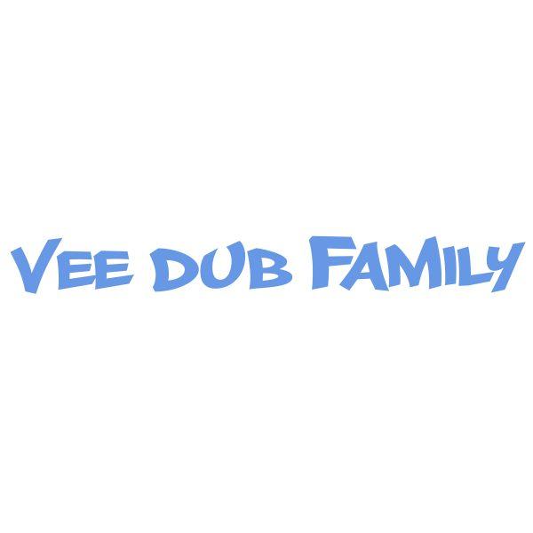 Vee Dub Family Graffiti Windscreen Sticker - Iced Blue